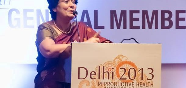 Ms. Anuradha Gupta, Additional Secretary of India's Ministry of Health and Family Welfare and Mission Director of the National Rural Health Mission (NRHM) / Photo by: RHSC