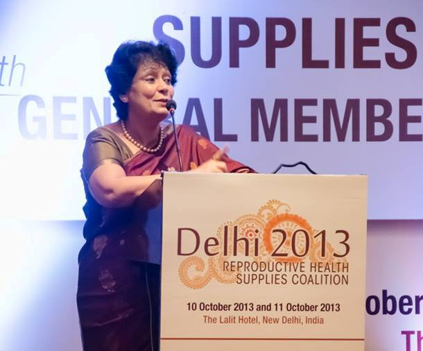 Ms. Anuradha Gupta, Additional Secretary of India's Ministry of Health and Family Welfare and Mission Director of the National Rural Health Mission (NRHM)