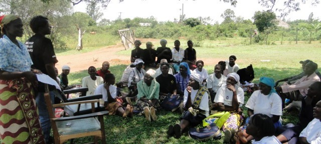Community group meeting in Kenya. Photo credit: CARE